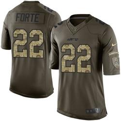 Limited Men's Matt Forte New York Jets Nike Salute to Service Jersey - Green