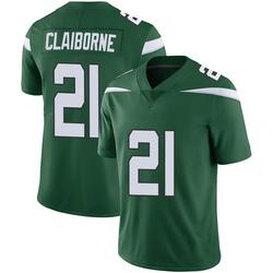 Limited Men's Morris Claiborne New York Jets Nike Vapor Jersey - Gotham Green