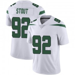 Limited Men's MyQuon Stout New York Jets Nike Vapor Jersey - Spotlight White