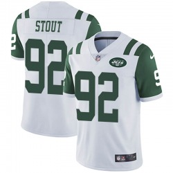 Limited Men's MyQuon Stout New York Jets Nike Vapor Untouchable Jersey - White