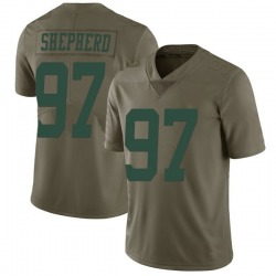 Limited Men's Nathan Shepherd New York Jets Nike 2017 Salute to Service Jersey - Green