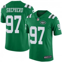 Limited Men's Nathan Shepherd New York Jets Nike Color Rush Jersey - Green