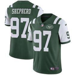 Limited Men's Nathan Shepherd New York Jets Nike Team Color Vapor Untouchable Jersey - Green