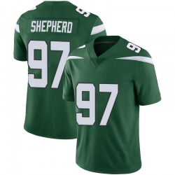 Limited Men's Nathan Shepherd New York Jets Nike Vapor Jersey - Gotham Green