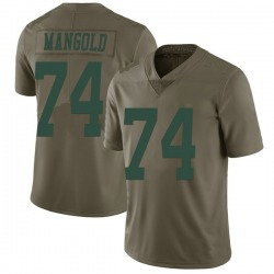 Limited Men's Nick Mangold New York Jets Nike 2017 Salute to Service Jersey - Green