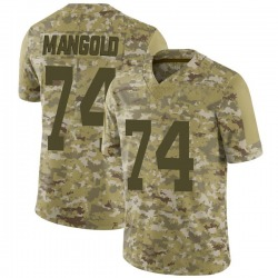 Limited Men's Nick Mangold New York Jets Nike 2018 Salute to Service Jersey - Camo