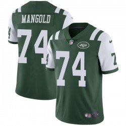 Limited Men's Nick Mangold New York Jets Nike Team Color Vapor Untouchable Jersey - Green