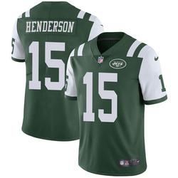 Limited Men's Quadree Henderson New York Jets Nike Team Color Vapor Untouchable Jersey - Green