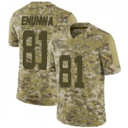 Limited Men's Quincy Enunwa New York Jets Nike 2018 Salute to Service Jersey - Camo