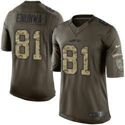 Limited Men's Quincy Enunwa New York Jets Nike Salute to Service Jersey - Green