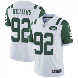 Limited Men's Quinnen Williams New York Jets Nike Vapor Untouchable Jersey - White