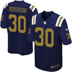 Limited Men's Rashard Robinson New York Jets Nike Alternate Vapor Untouchable Jersey - Navy Blue