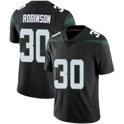 Limited Men's Rashard Robinson New York Jets Nike Vapor Jersey - Stealth Black