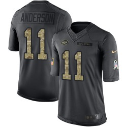 Limited Men's Robby Anderson New York Jets Nike 2016 Salute to Service Jersey - Black