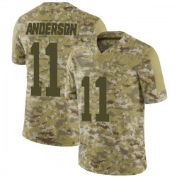 Limited Men's Robby Anderson New York Jets Nike 2018 Salute to Service Jersey - Camo