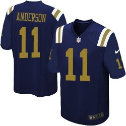 Limited Men's Robby Anderson New York Jets Nike Alternate Jersey - Navy Blue