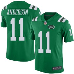 Limited Men's Robby Anderson New York Jets Nike Color Rush Jersey - Green