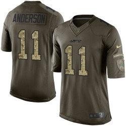 Limited Men's Robby Anderson New York Jets Nike Salute to Service Jersey - Green