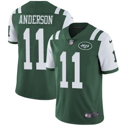 Limited Men's Robby Anderson New York Jets Nike Team Color Jersey - Green