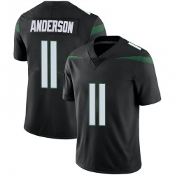 Limited Men's Robby Anderson New York Jets Nike Vapor Jersey - Stealth Black