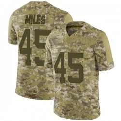 Limited Men's Rontez Miles New York Jets Nike 2018 Salute to Service Jersey - Camo