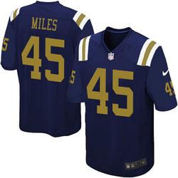 Limited Men's Rontez Miles New York Jets Nike Alternate Vapor Untouchable Jersey - Navy Blue