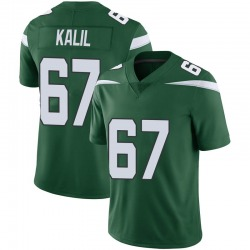 Limited Men's Ryan Kalil New York Jets Nike Vapor Jersey - Gotham Green