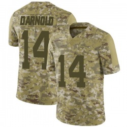 Limited Men's Sam Darnold New York Jets Nike 2018 Salute to Service Jersey - Camo