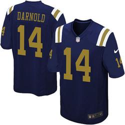 Limited Men's Sam Darnold New York Jets Nike Alternate Vapor Untouchable Jersey - Navy Blue