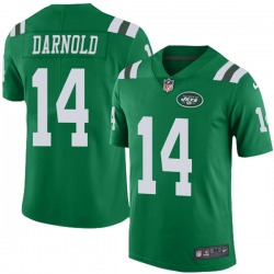 Limited Men's Sam Darnold New York Jets Nike Color Rush Jersey - Green