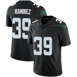 Limited Men's Santos Ramirez New York Jets Nike Vapor Jersey - Stealth Black