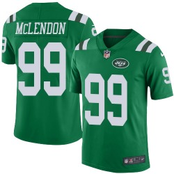 Limited Men's Steve McLendon New York Jets Nike Color Rush Jersey - Green