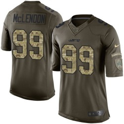 Limited Men's Steve McLendon New York Jets Nike Salute to Service Jersey - Green