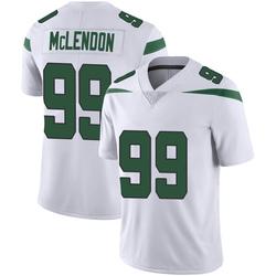 Limited Men's Steve McLendon New York Jets Nike Vapor Jersey - Spotlight White