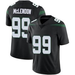 Limited Men's Steve McLendon New York Jets Nike Vapor Jersey - Stealth Black