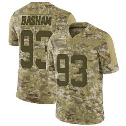 Limited Men's Tarell Basham New York Jets Nike 2018 Salute to Service Jersey - Camo