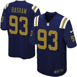 Limited Men's Tarell Basham New York Jets Nike Alternate Vapor Untouchable Jersey - Navy Blue