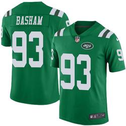 Limited Men's Tarell Basham New York Jets Nike Color Rush Jersey - Green