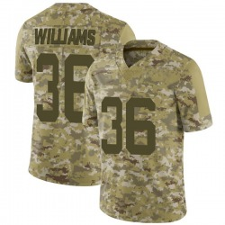 Limited Men's Terry Williams New York Jets Nike 2018 Salute to Service Jersey - Camo