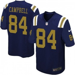 Limited Men's Tevaughn Campbell New York Jets Nike Alternate Vapor Untouchable Jersey - Navy Blue