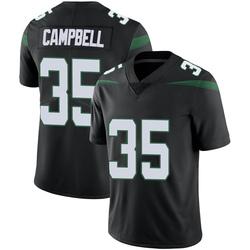 Limited Men's Tevaughn Campbell New York Jets Nike Vapor Jersey - Stealth Black