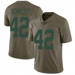 Limited Men's Thomas Hennessy New York Jets Nike 2017 Salute to Service Jersey - Green
