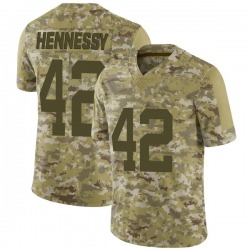 Limited Men's Thomas Hennessy New York Jets Nike 2018 Salute to Service Jersey - Camo