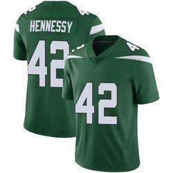 Limited Men's Thomas Hennessy New York Jets Nike Vapor Jersey - Gotham Green