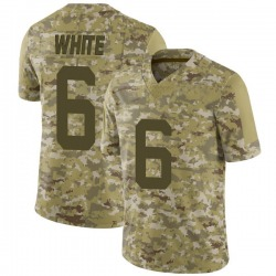 Limited Men's Tim White New York Jets Nike Camo 2018 Salute to Service Jersey - White
