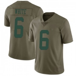 Limited Men's Tim White New York Jets Nike Green 2017 Salute to Service Jersey - White