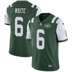 Limited Men's Tim White New York Jets Nike Green Team Color Vapor Untouchable Jersey - White