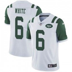 Limited Men's Tim White New York Jets Nike Vapor Untouchable Jersey - White