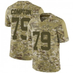 Limited Men's Tom Compton New York Jets Nike 2018 Salute to Service Jersey - Camo