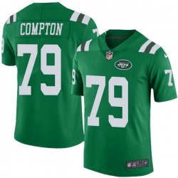 Limited Men's Tom Compton New York Jets Nike Color Rush Jersey - Green